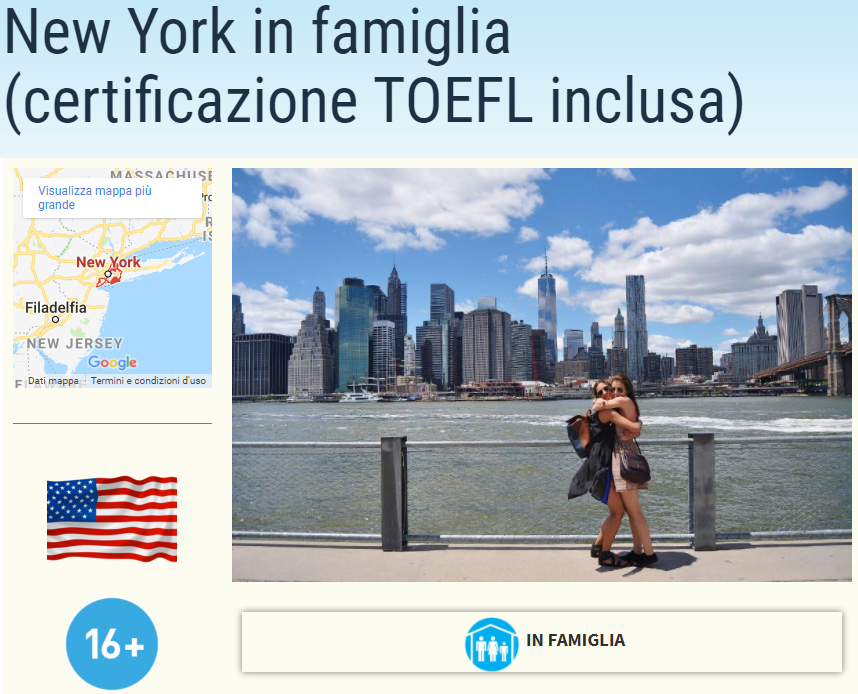 New york soggiorni linguistici for Casa famiglia new york