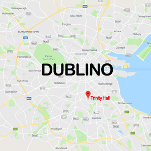 Vacanza Studio IRLANDA DUBLINO conforme INPSIEME | TRINITY HALL TRINITY COLLEGE-MAPPE-DUBLINO
