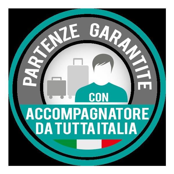 Partenze garantite con accompagnatore Giocamondo Study da tutta Italia
