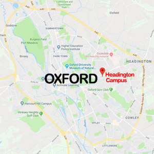 Vacanza Studio Oxford Inghilterra conforme INPSieme | HARRY POTTER + LONDRA-map-oxford