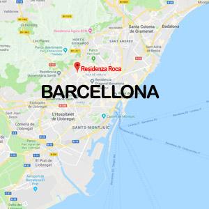 Vacanza Studio Barcellona Spagna conforme INPSieme | CIUDAD UNIVERSITARIA-mappa-