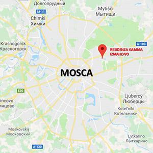 Vacanza Studio a Mosca RUSSIA conforme Estate INPSieme | MOSCA + SAN PIETROBURGO-mappa-2