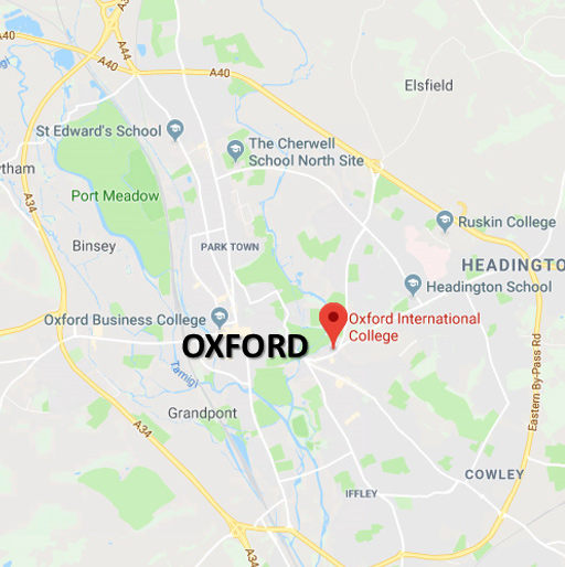 Vacanza Studio Oxford Inghilterra Estate INPSieme | Prestigiose Università + LONDRA-map