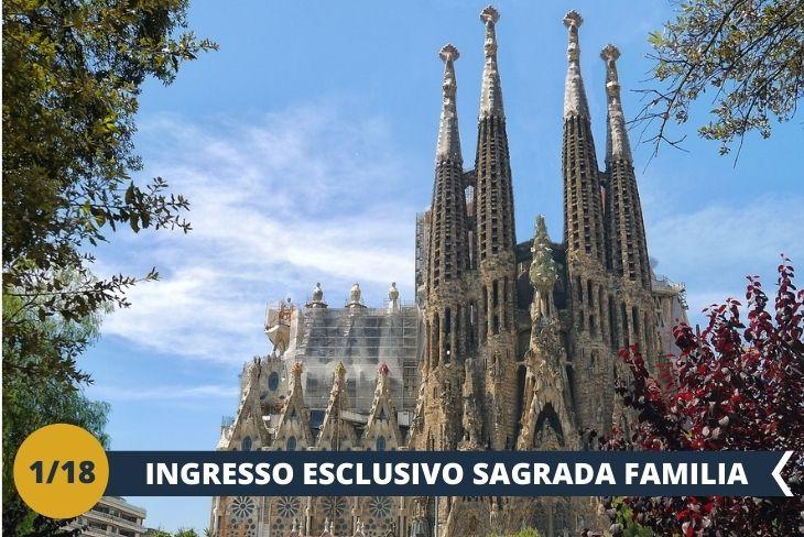 La Sagrada Familia (INGRESSO INCLUSO): Il tempio espiatorio della Sagrada Familia è oggi uno dei tratti distintivi dell'identità di Barcellona; opera di Gaudí ed emblema dell'architettura modernista, è ammirato da migliaia di turisti al giorno. (escursione mezza giornata)