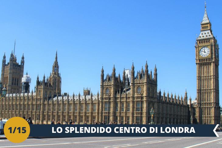 """ESCURSIONE DI INTERA GIORNATA: partiremo alla scoperta dei """"classici"""" di Londra. Un magnifico walking tour nella zona di Westminster, per ammirare: l'House of Parliament, sede del Parlamento inglese, con il suo famoso Big Ben; la Westminster Abbey, sede delle incoronazioni dei sovrani d'Inghilterra; e la casa del Primo Ministro a Downing Street. A questo punto giungeremo alla piazza principale, Trafalgar square, dove visiteremo la National Gallery. Per completare questa giornata strepitosa non può mancare Piccadilly Circus, cuore pulsante con i suoi colori vivaci, e un tuffo nell'M&M's world, i cioccolatini colorati più famosi al mondo!"""