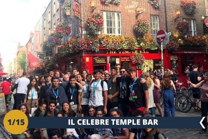 Percorrerete il famoso quartiere TEMPLE BAR, con i suoi colorati pub e la sua caratteristica musica, per vivere da protagonista la magica atmosfera Irlandese. Avrete a disposizione tanto tempo libero per visitare tutti i locali tipici dello storico quartiere. La visita terminerà ALL'HARD ROCK CAFÈ di Dublino (escursione di mezza giornata)