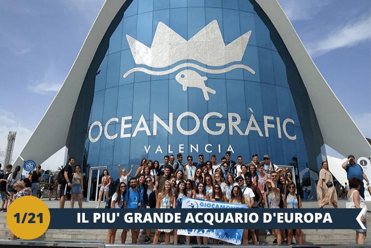 OCEANOGRAFICO (INGRESSO INCLUSO), visiteremo il più grandeacquario d'Europa, capace di ospitare 45.000 esseri viventi appartenenti a 500 specie diverse, un'esperienza davvero unica (escursione mezza giornata)