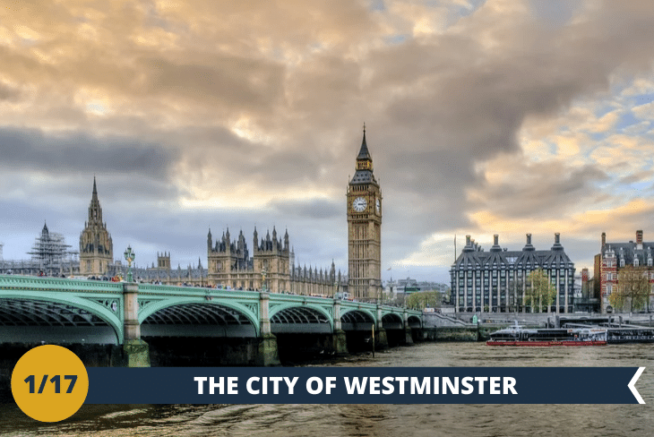 """ESCURSIONE DI INTERA GIORNATA: partiremo alla scoperta dei """"classici"""" di Londra.Un magnifico walking tour nella zona diWestminster, a partire dall'House of Parliament, sede del Parlamento inglese, con il suo famoso Big Ben. Come non restare incantati davanti allaWestminster Abbey, sede delle incoronazioni dei sovrani d'Inghilterra. Passeremo poi davanti alla casa delPrimo Ministro a Downing Street proseguendo nella piazza principale,Trafalgar square, dove visiteremo la National Gallery, all'interno della quale sono esposti capolavori di un certo calibro. Per completare questa giornata strepitosa non può mancarePiccadilly circus, cuore pulsante con i suoi colori vivaci, e un tuffo nell'M&M's world, 35.000 metri quadri dedicati ai cioccolatini colorati più famosi al mondo!"""