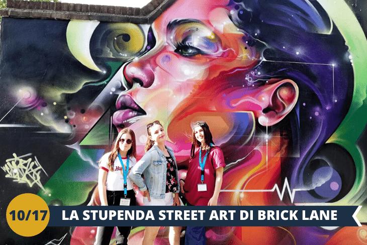Old Street e Brick Lane: un tuffo nel quartiere della street art londinese. Qui troveremo tantissimi graffiti, tra cui quelli di Banksy, il più famoso esponente della street art in tutto il mondo. (escursione mezza giornata)