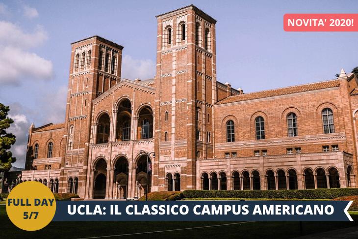 TOUR DI UCLA, University of California Los Angeles, una delle più prestigiose e importanti Università al mondo. Fondata nel 1919 si trova a breve distanza dalla famosa Beverly Hills. UCLA è la rappresentazione perfetta del classico campus universitario americano