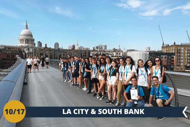 La City: zonafinanziaria della città, dove potremmoammirare laTate Modern, il Millenium Bridge di Harry Potter, lo Shakespeare's Globe e St. Paul Cathedral!(escursione mezza giornata)