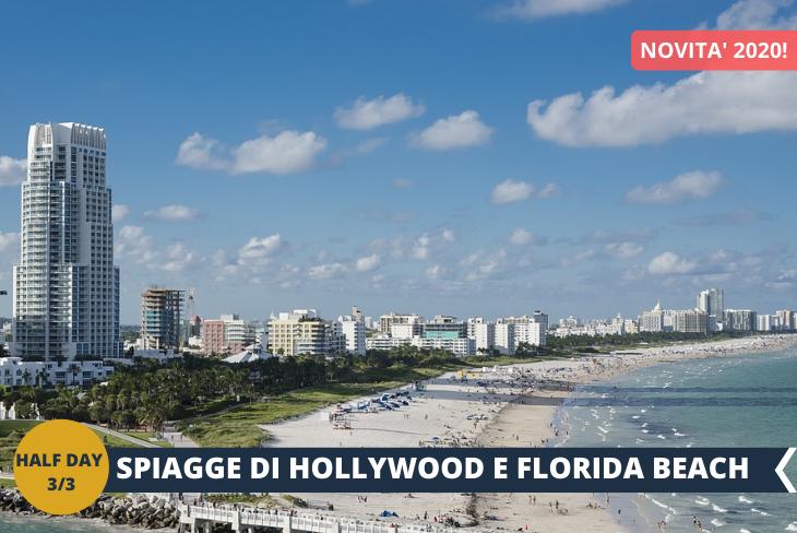 Pomeriggio in spiaggia nella Hollywood Florida Beach Frizzante e allegra, Miami è una destinazione tutta da vivere dove potrete godere dell'atmosfera soleggiata e del divertimento della Hollywood Florida Beach, costeggiata dalla Boardwalk, la Promenade prferita per ciclisti e amanti del jogging! (escursione di mezza giornata)