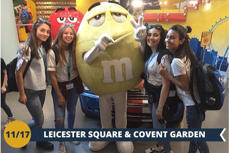 Covent Garden: il quartiere con i suoi mercatini eleganti e i bizzarri artisti di strada,Chinatown, e Leicester Square, famosa per le premiere dei film!(escursione mezza giornata)