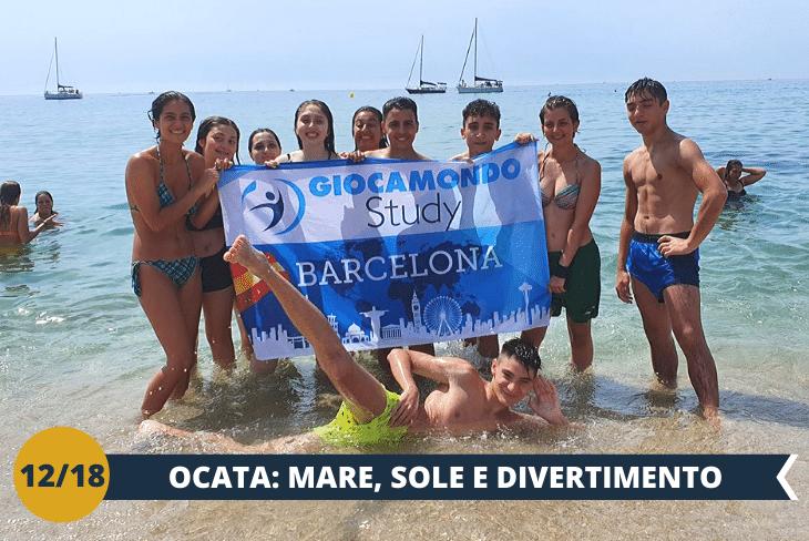 ESCURSIONE DI INTERA GIORNATA presso una delle più belle e frequentate spiagge di Barcellona, Ocata; una giornata tra mare, sole, sport e tanto divertimento.