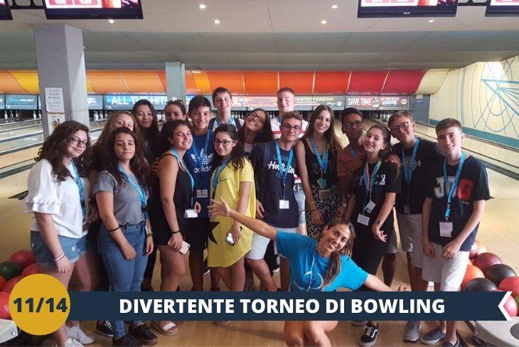Un torneo di Bowling pomeridiano (INGRESSO INCLUSO) sarà un modo alternativo per conoscere ragazzi provenienti da tutto il mondo (escursione mezza giornata)
