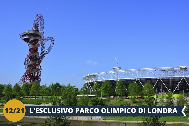 Le Olimpiadi di Londra 2012 sono ormai archiviate, ma il Villaggio Olimpico continua ad accogliere visitatori. Il QUEEN ELIZABETH OLYMPIC PARK è un posto stimolante e innovativo dove si incontrano sport, natura, arte e intrattenimento. (escursione di mezza giornata)