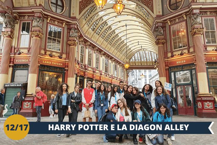 Leadnehall Market: situato nella City, è stato usato come location per Diagon Alley in Harry Potter e la Pietra Filosofale. Leadenhall Market è un superbo esempio di un mercato coperto vittoriano con un tetto splendidamente dipinto e ornato. (escursione mezza giornata)