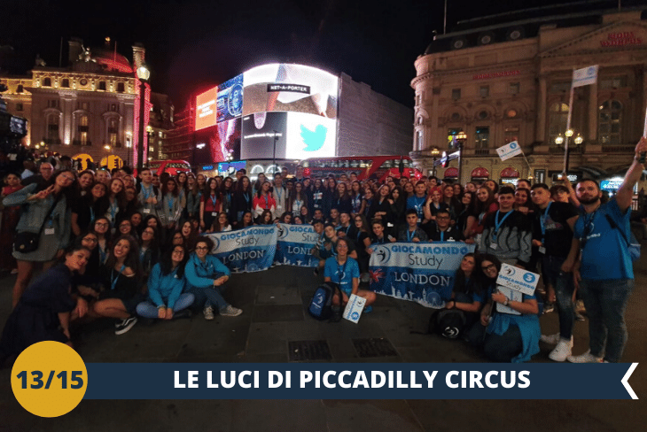 LONDON BY NIGHT: una serata nel fulcro della vita londinese tra Piccadilly Circus e Leicester Square!