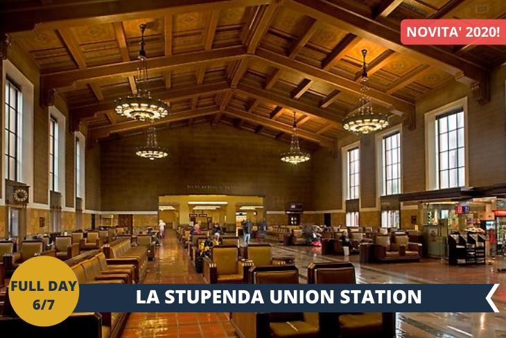 LA UNION STATION: E' la stazione dei treni della zona di Downtown di Los Angeles, bellissima nella sua architettura retrò dove ancora esistono sedili in pelle marroni e la volta cassettonata in legno. L'atmosfera è quella tipica di un film anni 50! Per concludere il tour, un passaggio nel quartiere di CHINATOWN. Inoltre la CATTEDRALE di LOS ANGELES: questa cattedrale romano cattolica post-moderna, completata nel 2002, è un' attrazione imperdibile se vi trovate a Los Angeles. Crea un impressionante contrasto con le chiese e le cattedrali classiche e attira l'attenzione per la sua imponenza.