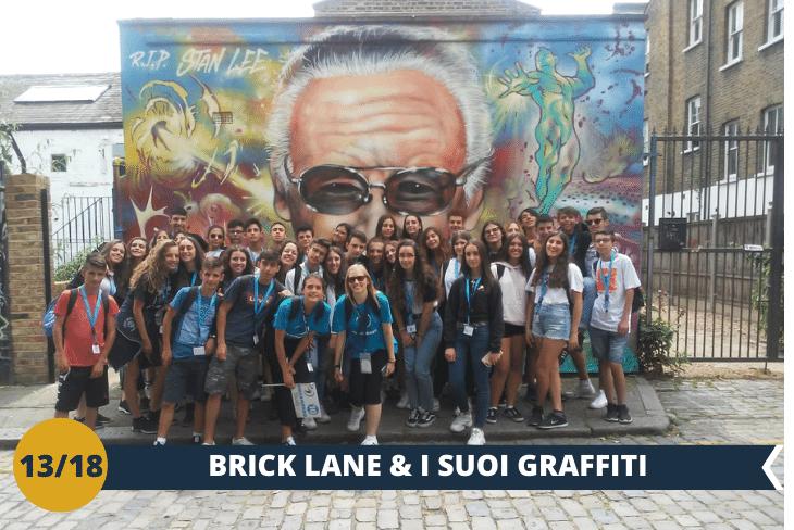 Walking tour nella zona di Shoreditch, la più amata dai giovani, ricca di graffiti e street art, anche qui avrete tempo libero per andare alla scoperta della zona e delle sue stravaganti vie (escursione di mezza giornata)
