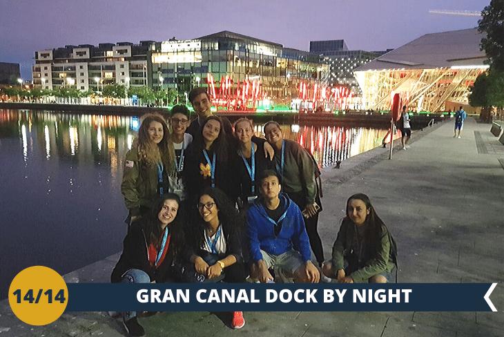 DUBLINO BY NIGHT: uscita serale alla scoperta dei quartieri finanziari di Dublino e dello spettacolareGRAN CANAL DOCK!