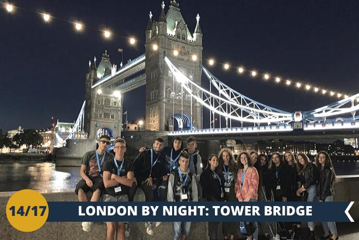 LONDON BY NIGHT per deliziare la vostra vista con il Tower Bridge illuminato e farsi una passeggiata su Katherine's Docks per poter ammirare il famoso Dickens Inn