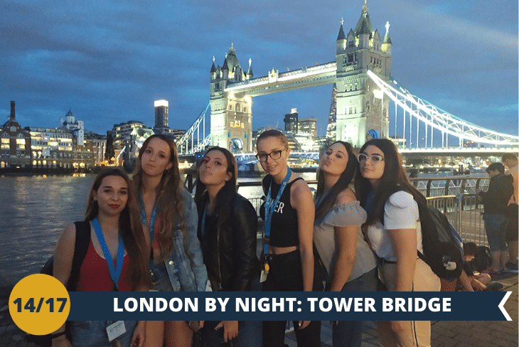 LONDON BY NIGHT: per deliziare la vostra vista con il Tower Bridge illuminato e farsi una passeggiata su Katherine's Docks per ammirare il famoso Dickens Inn