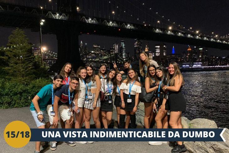 NEW YORK BY NIGHT: il quartiere di DUMBO, famoso per essere l'immagine icona di New York