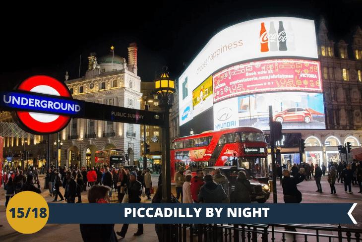 LONDON BY NIGHT, nel fulcro della vita Londinese, a Piccadilly Circus scopriremo uno dei pub più antichi della città!