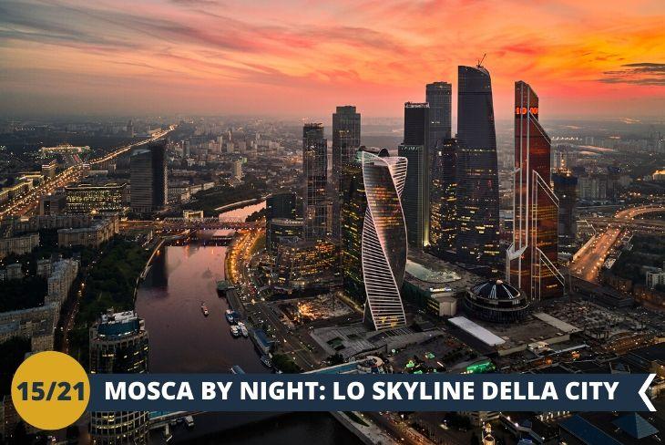"""MOSCA BY NIGHT, per godere dellabella vista dei famosi grattacieli """"Moscow City"""""""