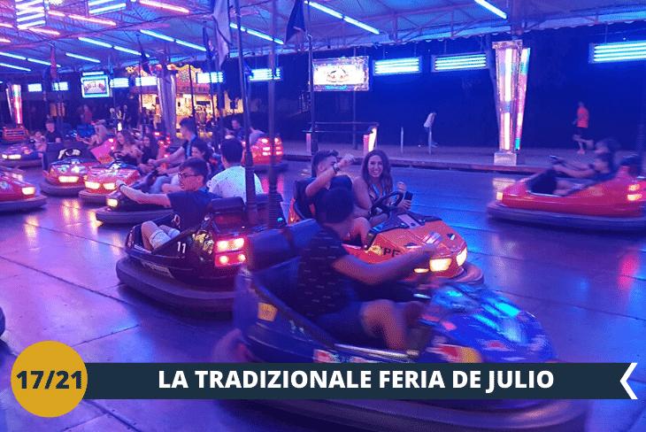 VALENCIA BY NIGHT:una notte di movida allaFeria de Julio, tradizionale evento festivo annuale del mese di luglio con luna park, concerti, spettacoli pirotecnici e tanto altro!