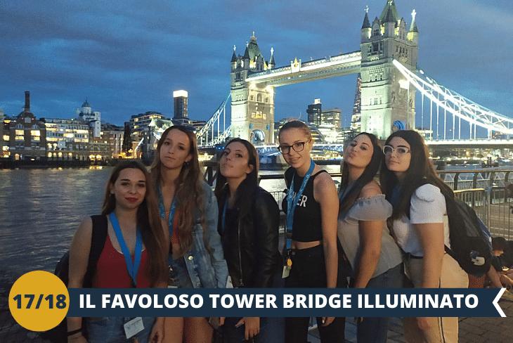 LONDON BY NIGHT, per deliziare la vostra vista con il TOWER BRIDGE ILLUMINATO