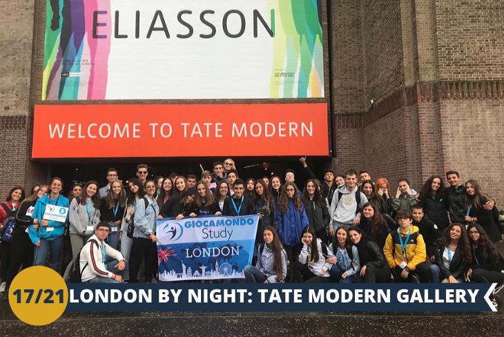 LONDON BY NIGHT: Una fantastica serata nella galleria di arte moderna più famosa del Regno Unito, la TATE MODERN GALLERY