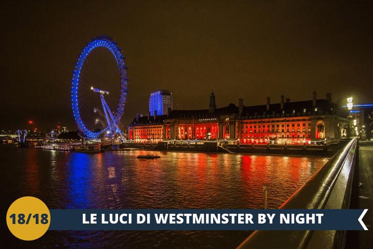 LONDON BY NIGHT, nella zona di Southbank, sotto al London Eye illuminato!