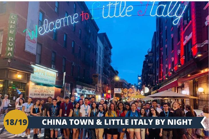 NEW YORK BY NIGHT: passeggiata lungo i quartieri di CHINA TOWN e LITTLE ITALY