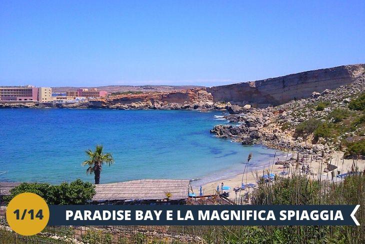 Durante la mattina si partirà alla volta di Paradise Bay, caratterizzata da un arenile sabbioso circondato da falesie calcaree ricoperte di vegetazione, che richiama quella tipica della macchia mediterranea, mentre il mare è limpido e cristallino (Escursione di mezza giornata)