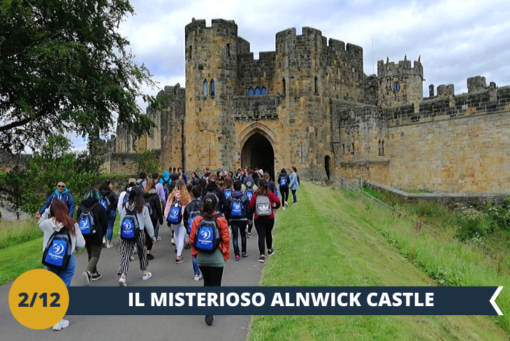 ESCURSIONE DI INTERA GIORNATA all' ALNWICK CASTLE, (INGRESSO INCLUSO) il secondo più grande castello abitato dell'Inghilterra (secondo solo al castello di Windsor) costruito nel 1096 da Yves de Vescy, barone di Alnwick. Il meraviglioso castello perfettamente conservato è stato utilizzato per ambientare il castello di Hogwarts nei film Harry Potter e la Pietra Filosofale ed Harry Potter e la camera dei segreti