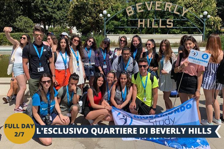 FULL DAY 2/7: BEVERLY HILLS, con le celebri e lussuosissime ville, set della famosa serie Beverly Hills 90210, girata proprio qui.