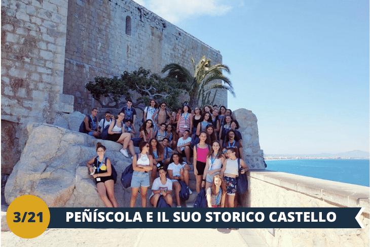 ESCURSIONE INTERA GIORNATA: Peñíscola e il famoso Castello del Papa Luna, una fortezza magnifica e perfettamente conservata dove poter ripercorrere le passate gesta dei cavalieri Templari; la visita si concluderà con uno splendido e rilassante pomeriggio in spiaggia tra sole e mare!
