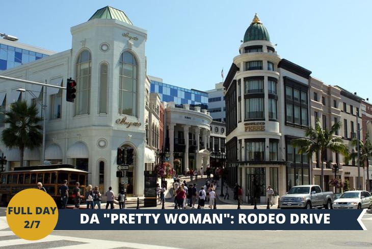 RODEO DRIVE, una delle attrazioni più visitate di Los Angeles. Simbolo dello sfavillante mondo dello star system hollywoodiano, Rodeo Drive è insieme a Beverly Hills, il luogo che meglio incarna nell'immaginario collettivo l'entusiasmante vita delle star del cinema.