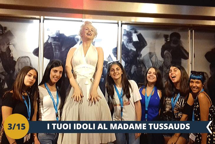 Visita al Madame Tussauds (INGRESSO INCLUSO), il museo delle cere più famoso al mondo, dove incontrerai tutti i tuoi personaggi preferiti (escursione mezza giornata)