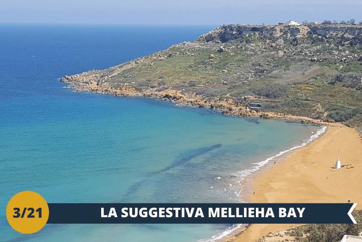 ESCURSIONE DI INTERA GIORNATA una splendida giornata nella spiaggia più famosa di Malta, nonché anche la più grande: la Mellieħa Bay, alla periferia del tipico villaggio maltese di Mellieħa. La spiaggia è lunga circa 800 metri e ha ottenuto da tempo la Bandiera Blu