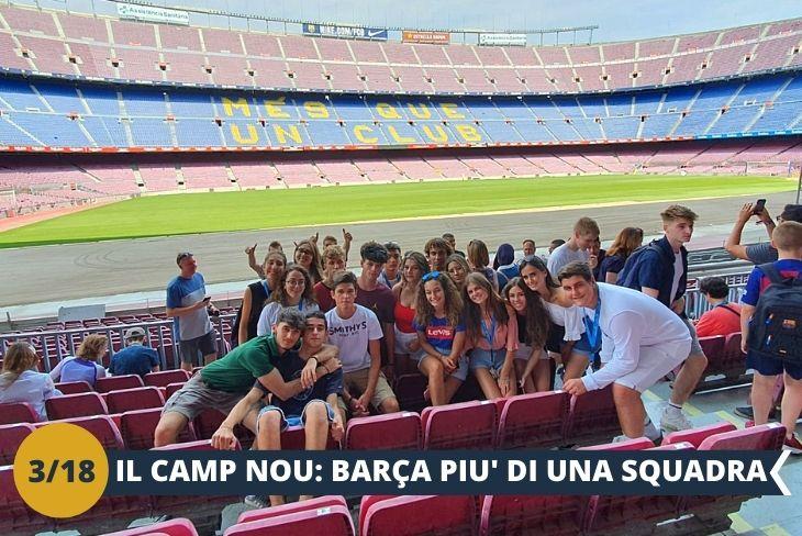 Lo stadio Camp Nou (INGRESSO INCLUSO). Il tempio del tifo Catalano uno degli stadi più famosi del mondo, come non l'avevi mai vissuto, attraverso l'audio guida multimediale e virtuale attraverso gli occhiali VR. Sarai seduto sugli spalti come un vero tifoso, ammirando le azioni più spettacolari dei tuoi campioni preferiti! (escursione mezza giornata)