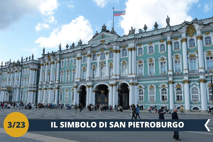 ESCURSIONE DI INTERA GIORNATA:avremo tanto tempo per conoscere meglio San Pietroburgo, la magnifica capitale degli imperatori. Cammineremo in un travolgente walking tour per lafamosa PROSPETTIVA NEVSKIJ e la PIAZZA DEL PALAZZO con il maestoso PALAZZO D'INVERNO, sede del famosissimo Hermitage, lo Stato Maggiore e l'Ammiragliato. Godremo della bellezza delle chiese e dei canali di questa fantastica città!