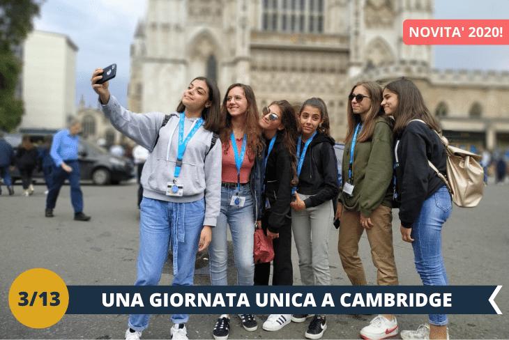 NEW! – ESCURSIONE INTERA GIORNATA A CAMBRIDGE , una cittadina tipicamente inglese, nota a livello internazionale per la sua prestigiosa università, una della più antiche e rinomate al mondo.