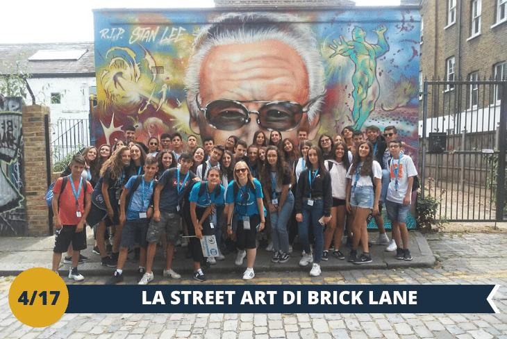 ESCURSIONE DI INTERA GIORNATA: un tuffo nel quartiere della Street Art Londinese: Old Street. Qui troveremo tantissimi graffiti, tra cui quelli di Banksy, uno dei maggiori esponenti della Street Art. Visiteremo il mercatino di Brick Lane e la zona di Shoreditch, amata dai giovani per il suo stile underground