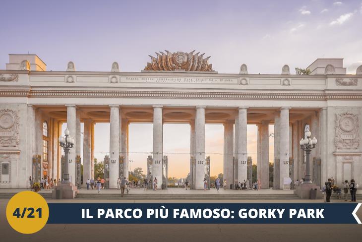 Sarete protagonisti di un tour stimolante e divertente al parco più famoso di Mosca - il GORKY PARK. E' un luogo di svago e relax ma anche un polmone verde che ospita attività sportive e culturali. E' uno dei 25 luoghi più visitati al mondo (escursione di mezza giornata)