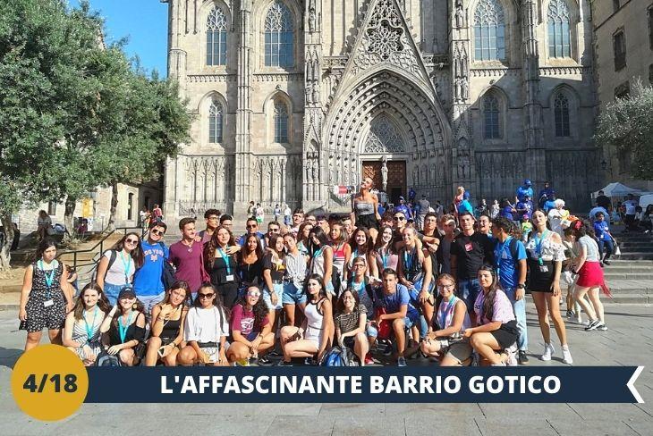 Alla scoperta del Barrio Gotico di Barcellona, un vero e proprio museo a cielo aperto con le sue strade, le piazze e gli angoli più nascosti. Torneremo indietro nel tempo raccontandoti la storia di questo quartiere con una guida ufficiale. (escursione mezza giornata)