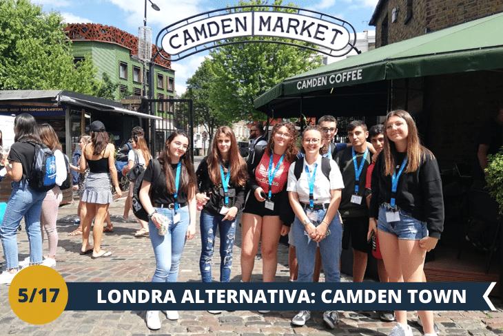 Camden Town: visita ad uno dei quartieri più iconici della città; a due passi dal campus uno dei quartieri più stravaganti di Londra, noto per i suoi mercatini tipici di cibo proveniente da ogni parte del mondo, accessori strani, vestiti di tendenza, marchi famosi (escursione mezza giornata)