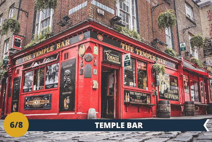 Percorrerete il famoso quartiere TEMPLE BAR, con i suoi colorati pub e la sua caratteristica musica, per vivere da protagonista la magica atmosfera Irlandese. Attraverserete L'HALF PENNY BRIDGE, il ponte-passerella in ferro che deve il suo nome curioso ad un antico pedaggio istituito all'atto della sua costruzione nel 1816. La visita terminerà ALL'HARD ROCK CAFÈ di Dublino (escursione di mezza giornata)